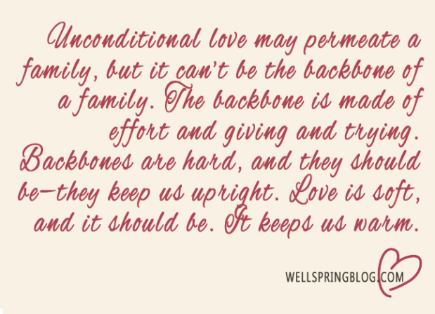 unconditional love quote